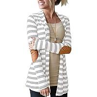 ALBIZIA Women's Long Sleeve Open Front Floral Soft Kimono Cardigan Blouse
