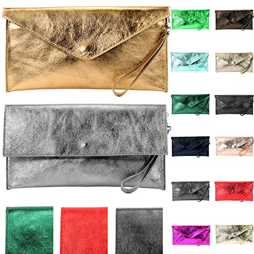 Modamoda Evening Metallic Bag Bronze Artikelnummer Metallic Leather ital Underarm und Farbe Bag Clutch Mit M106 Bag Leather M106 Farbe Präzise de 151 0qvrx0
