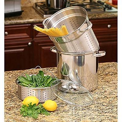 12-quart Stockpot Pot Stainless Steel Pasta Cooker