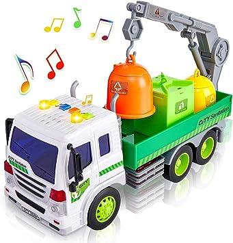 Müllauto Spielzeug Müllwagen mit Sound Auto Spielzeug LKW