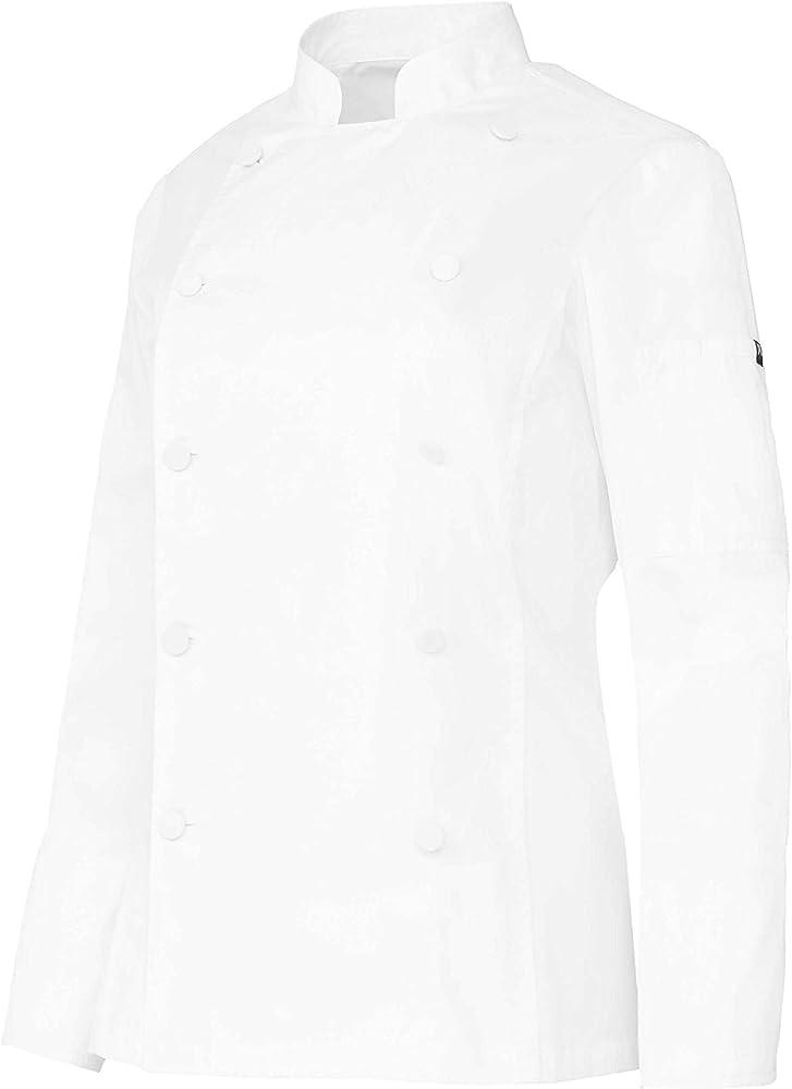 Chaqueta Cocinera Mujer De Manga Larga con Bolsillos Y Botones Forrados. Color Blanco. Ropa Cocina/Hostelería. Talla S. Ref: 4119: Amazon.es: Ropa y accesorios