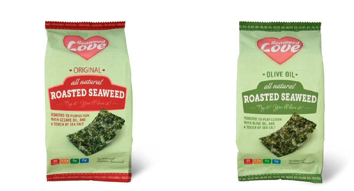 Seaweed Love All Natural Roasted Seaweed, Original, 0.18 Ounce (Pack of 24)