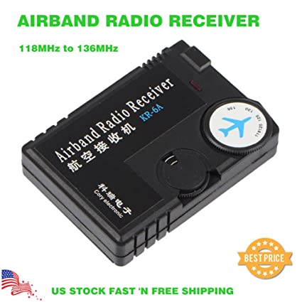 Amazon com: Adoner Air Band Radio Receiver 118MHz to 136MHz