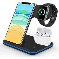VESSTT Cargador inalámbrico Rápido, Estación de Carga Rápida Qi Inalámbrica 3 en 1 Soportes de Carga de para para iPhone…