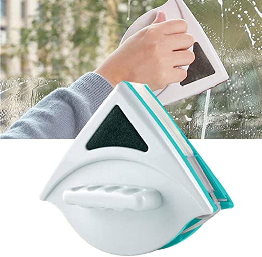 DACHENGJIN Cepillo Limpiador de Ventanas de cepillos de Limpieza de Vidrio de Doble Lado útil, Rango de aplicación: Vidrio de 5-12 mm: Amazon.es: Hogar