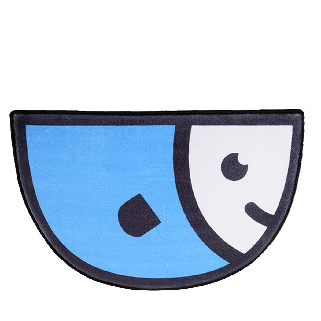 AXIANQIMat Carpet Door Mat Home Semi-Circular Door Mat Bedroom Bathroom Door Toilet Absorbent Pad Bathroom Bathroom Mat (Color : Blue)