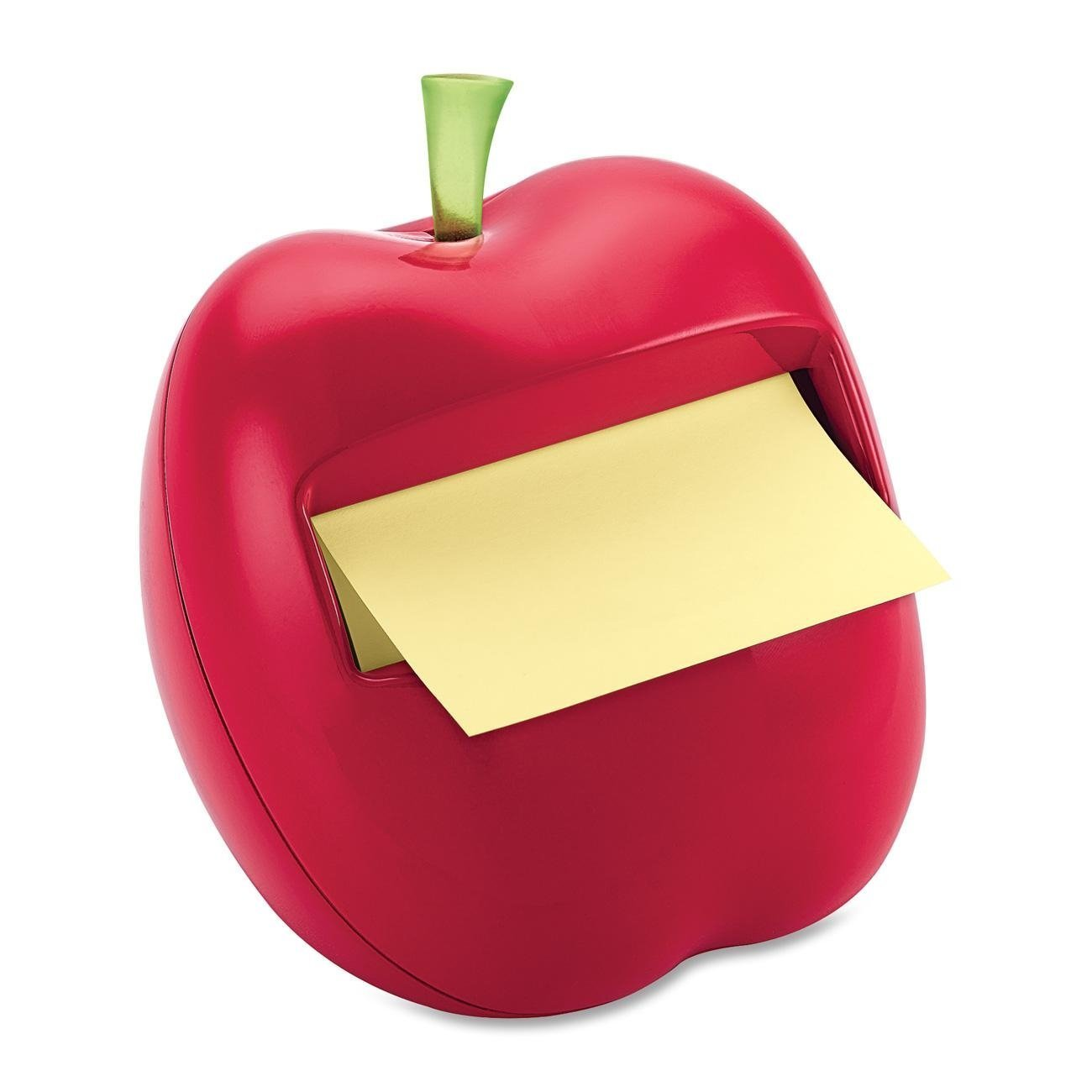 Post-it Pop-up Notes Dispenser for 3 x 3-Inch Notes, Apple Shaped Dispenser, Includes 1 Canary Yellow Note, 4-PACK 3M