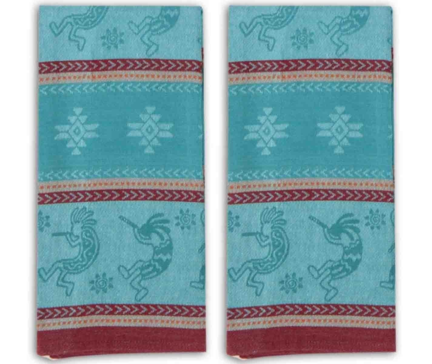 Amazon.com: Kokopelli Embossed Jacquard Kitchen Tea Towels Set of 2 ...