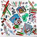 Christmas Stocking Stuffers Holiday Themed Toy Assortment.(includes Holiday Themed Glider Air Planes, Holiday Coloring Books, Snow Flake Yo Yo's, Christmas Tree Slinky's Red and Green Twist and Fly Wings, Pictured Tops, Snowman Paddle Ball Games, Cute Snowman Pencil Toppers, and More. 100 % Satisfaction Guarenteed
