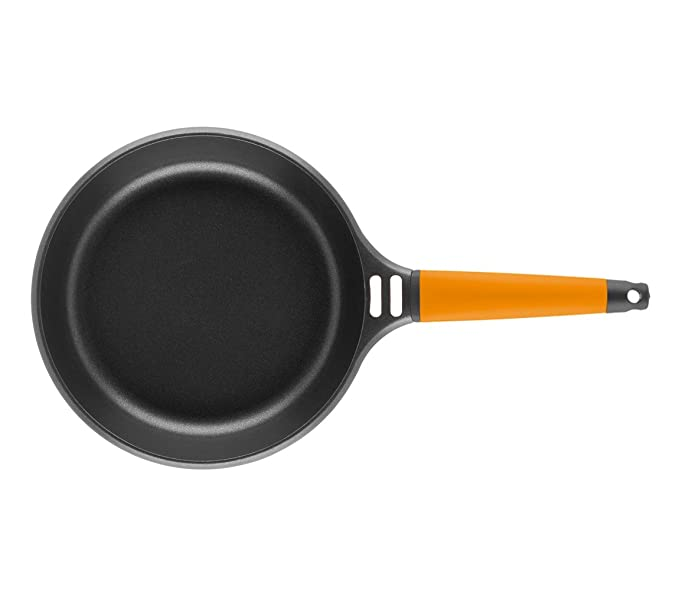 Fundix by Castey Nonstick Cast Aluminium Induction Fry Pan with Removable Orange Handle, 6-1/4-Inch