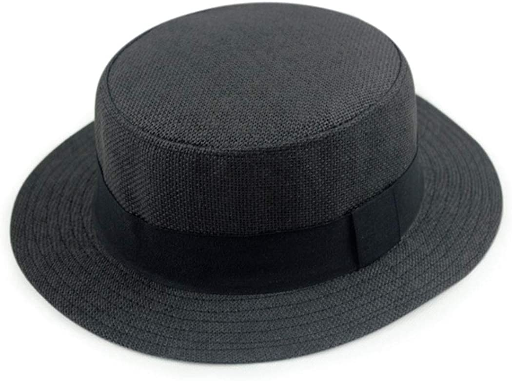 Jazz Sun Protection Straw Beach Hat with Black Band
