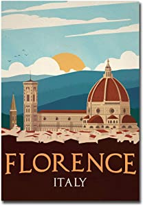 "Florence Italy Vintage Travel Art Refrigerator Magnet Size 2.5"" x 3.5"""