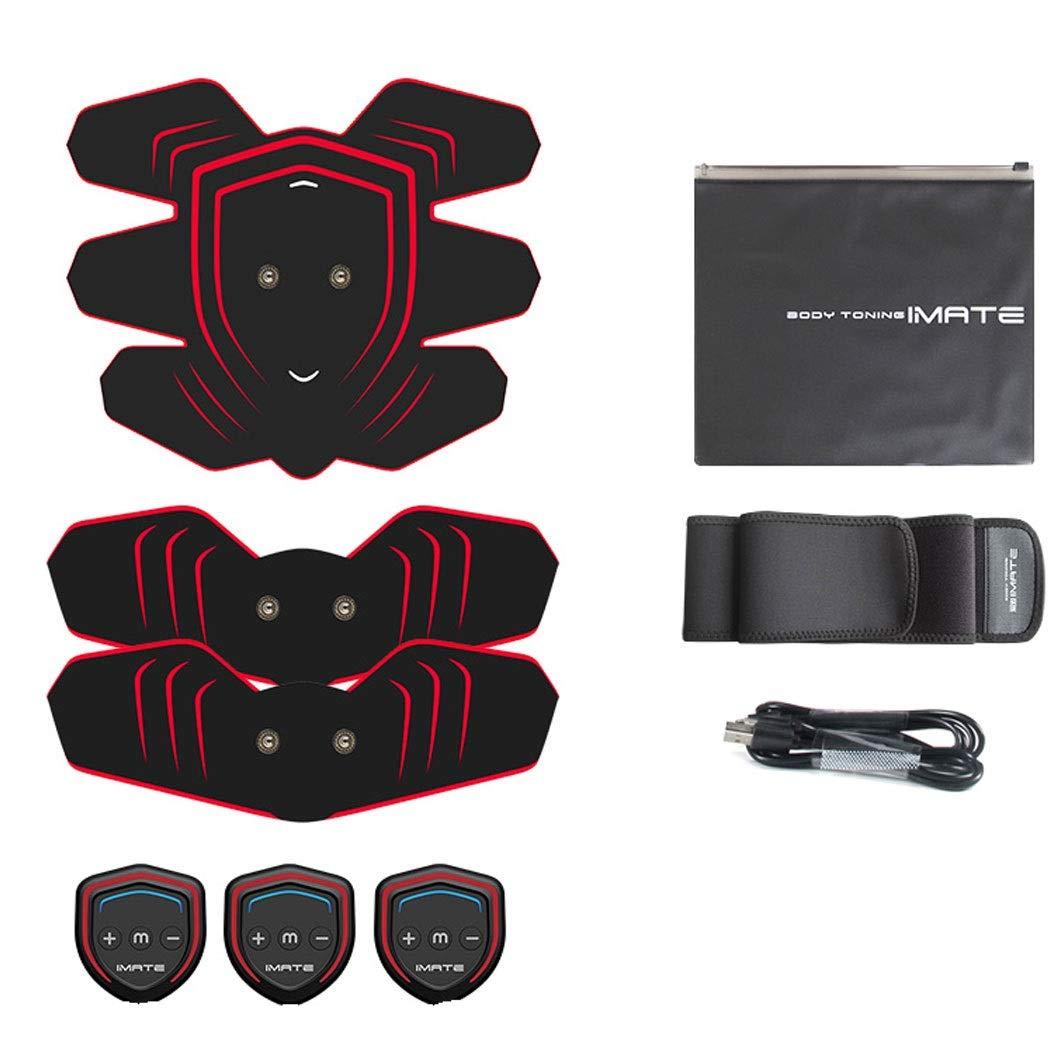 USB腹筋ペーストEMSインテリジェントブラックテクノロジーフィットネス機器怠惰な薄い腹デバイス  ブラック B07Q5SY5F5