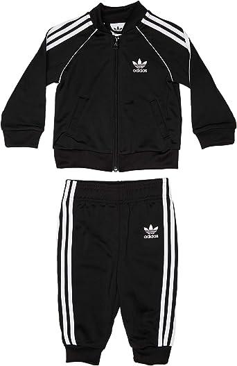adidas Superstar Suit Chándal, Unisex niños, Negro/Blanco, 98 (2/3 ...