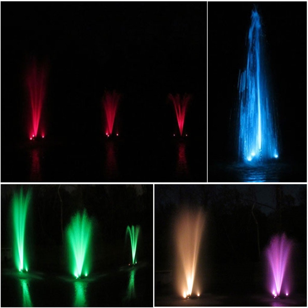 Half Off Ponds (3) 3 LED Color Changing Light Kit for Floating Fountains 100 Foot Cord