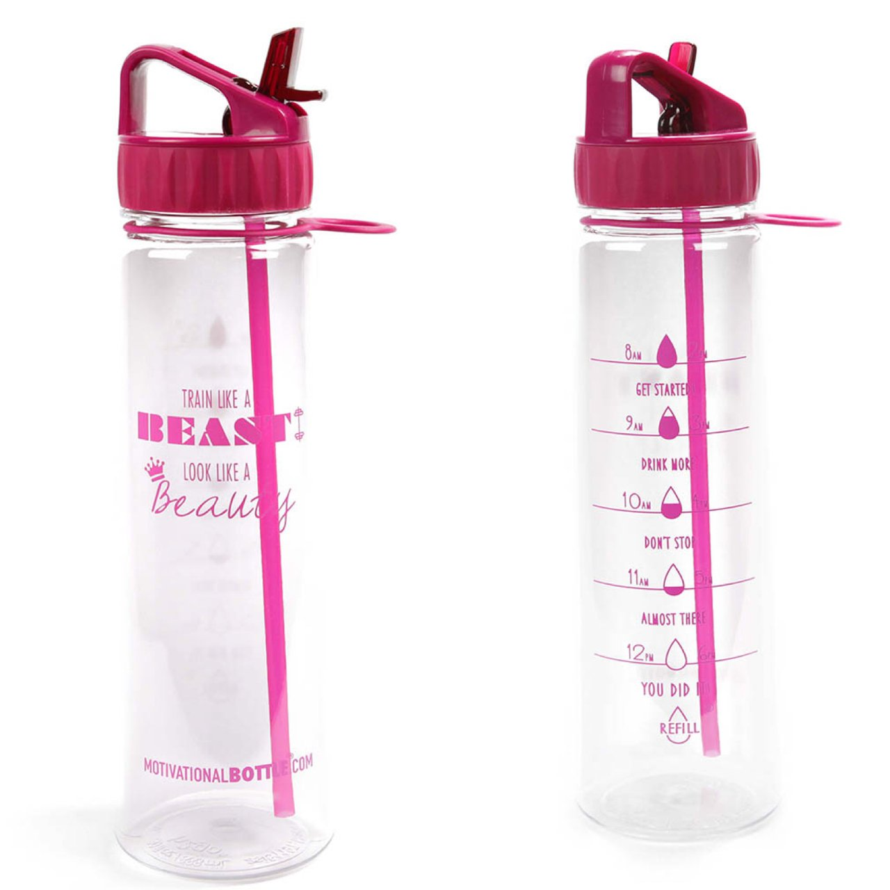 Motivational Bottle 30oz Fitness Workout Sports Water Bottle with Unique Timeline | Measurements | Goal Marked Times for Measuring Your Daily Water Intake BPA Free Non Toxic Tritan