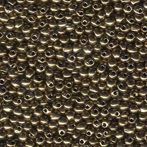 Bronze Metallic Miyuki 3.4mm Fringe Seed Bead Glass Tear Drops 25 Gram Tube Approx 650 Beads