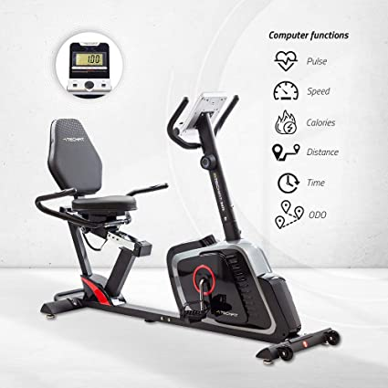 TechFit R470 Magnetic Recumbent Fitness Bicicleta Estática, Ideal ...