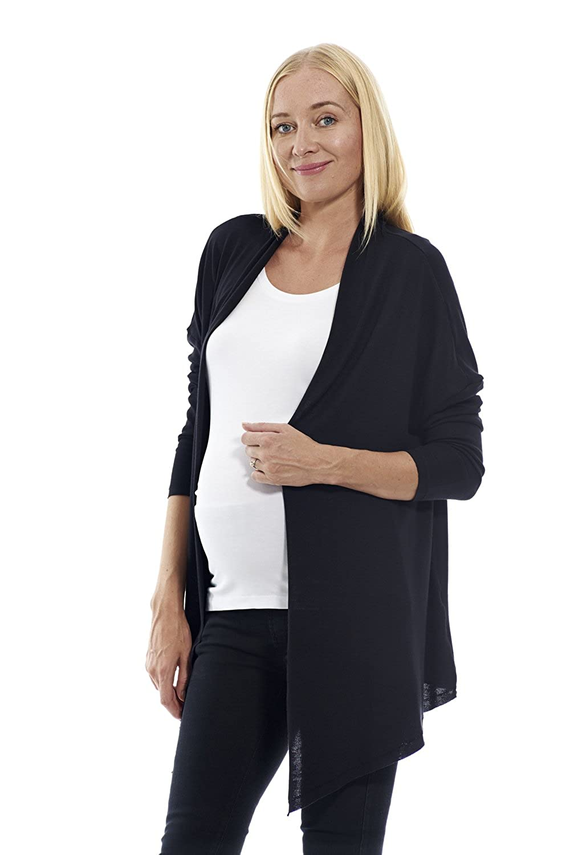 MOTHERWAY Damen Umstandsbekleidung Strickjacke Cardigan Pullover Umhang Oberteil Pulli Umstandspullover
