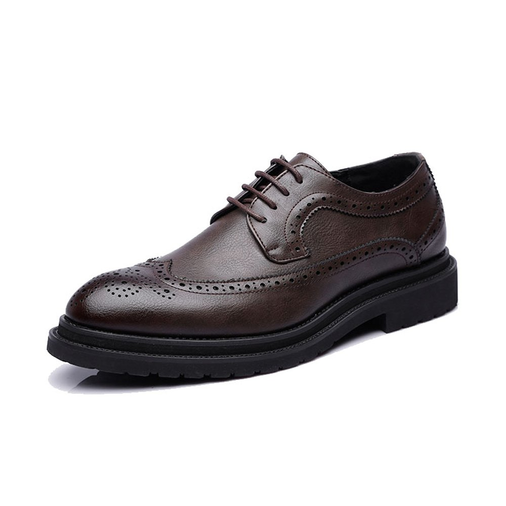 JIALUN-Schuhe Business-Schuhe der einfachen Männer PU-Leder-Oberseiten-Spitze Wingtip Dekoration-Breathable Outsole Oxfords (Farbe   Schwarz, Größe   CN24)  | Verschiedene Stile