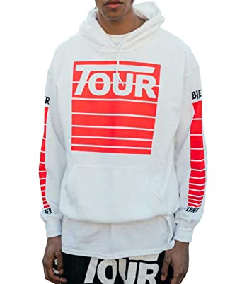 5eb31e35e19f Purpose Tour Stadium Tour White Hoodie New Justin Bieber Merch   Amazon.co.uk  Clothing