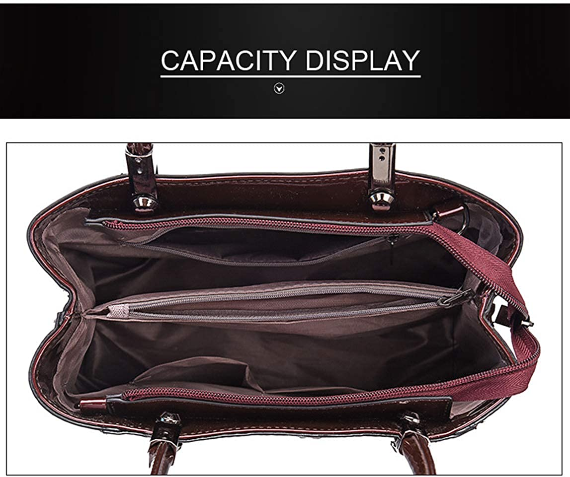 Womens Faux Leather Purses and Handbags Shoulder Bags Satchel Top Handle Bags Work Bag