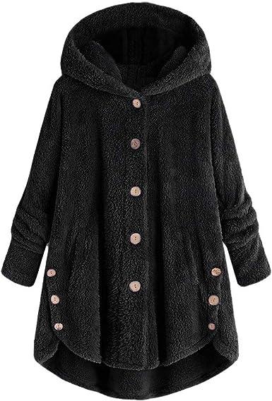 Womens Teddy Bear Winter Warm Fluffy Hooded Coat Parka Zip Hoodie Jacket Outwear