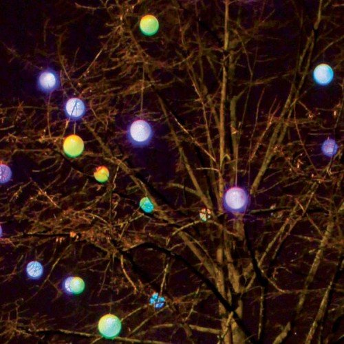 4 LED de goma luz pelotas Auto Cambio de color 15 cm: Amazon.es ...