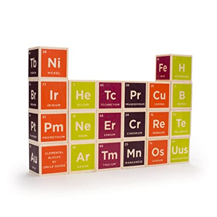 Uncle Goose Periodic Table Blocks Made In Usa