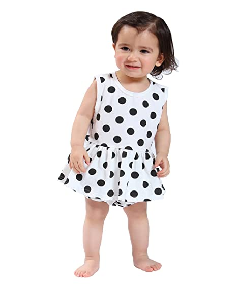 Ding Dong Baby Girls Summer Dot Sleeveless Dress Underwear Outfit Sets3 6m