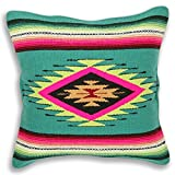 Serape Throw Pillow Cover, 18 X 18, Hand Woven in Southwest and Native American Styles. 11