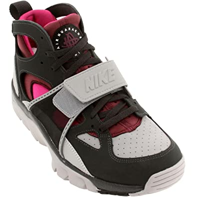 1d90dc6a684f Nike Air Trainer Huarache Men s Shoes Wolf Grey Pure Platinum-Fireberry-Villian  Red