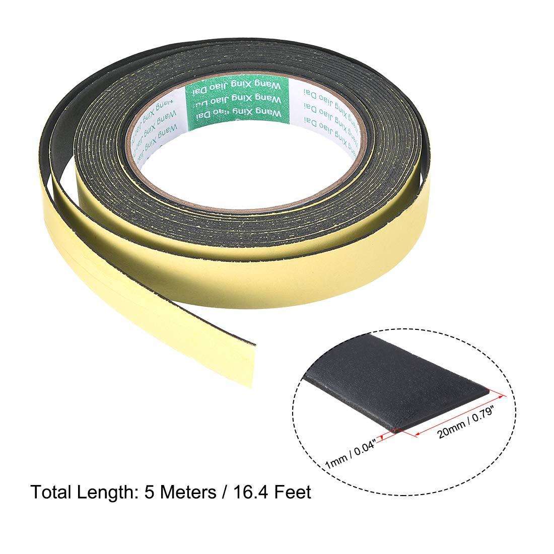 sourcing map Joint mousse ruban 8mm large 2mm /épaisseur 16,4 long /étanch/éit/é adh/ésif 2pcs