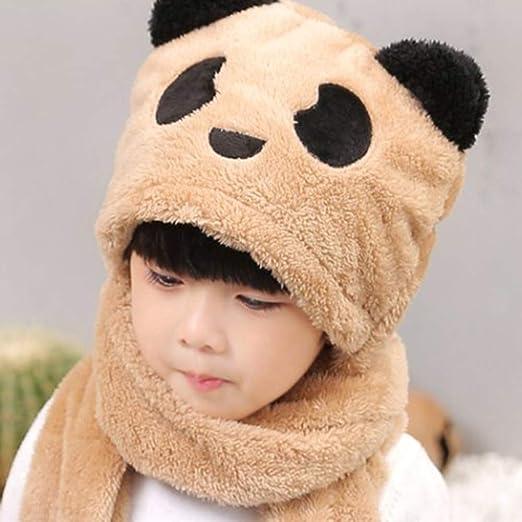 ITODA Bonnet dhiver pour enfant avec /écharpe en tricot et doublure en peluche Bonnet /à pompon dhiver chaud coupe-vent Chapeau dhiver avec pompon Protection oreilles pour enfant Ski V/élo Outdoor