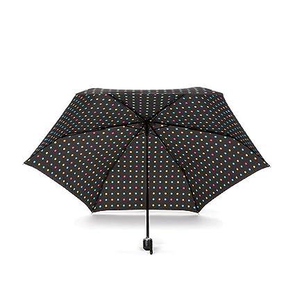 GAOLILI Paraguas Mujer Moda Pequeño Color Fresco Tres Doblar Paraguas Sun Shading