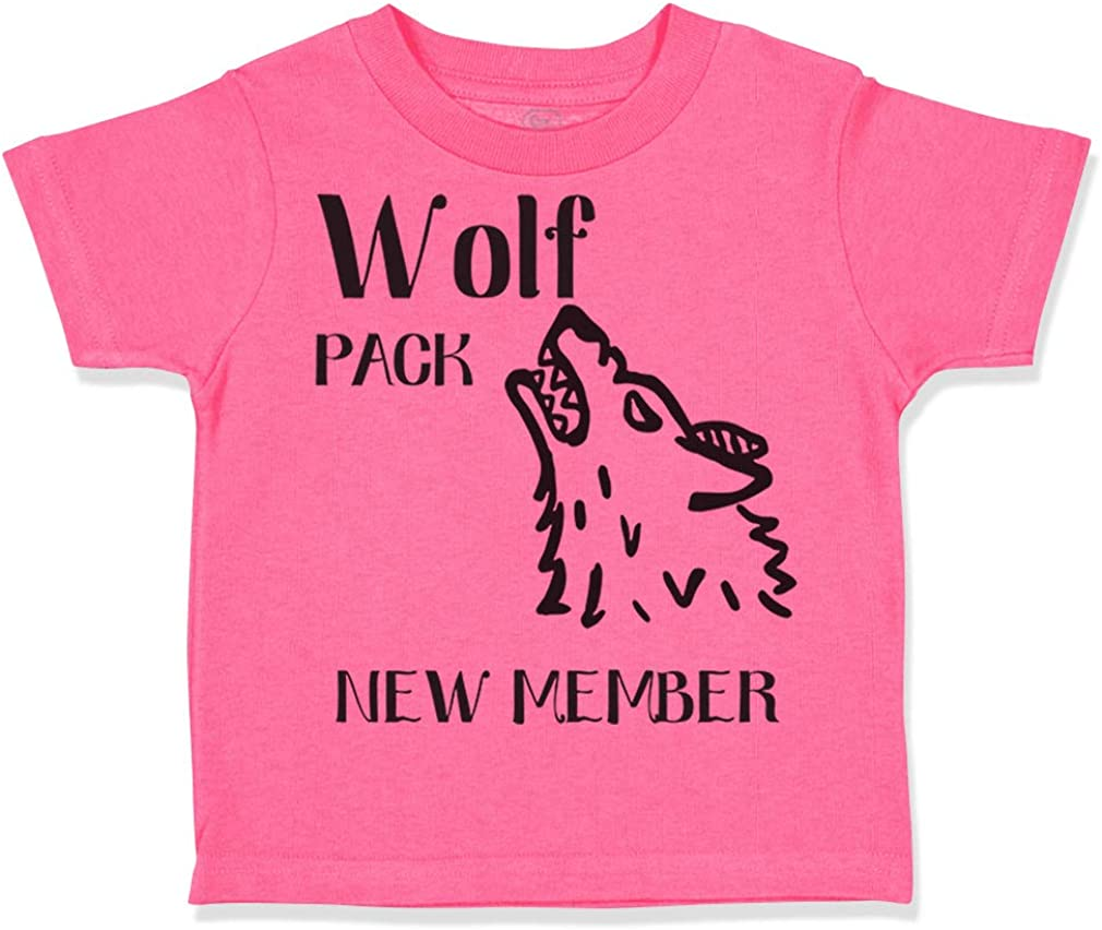 Custom Toddler T-Shirt Wolf Pack New Member Funny Humor Boy & Girl Clothes