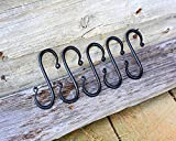 """Wrought Iron S Hooks for Hanging- 5 -""""S"""" - Hooks - Hand Forged wrought iron hooks!"""