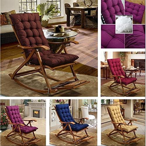 cojines de interior//exterior Chaise Lounge Coj/ín de silla mecedora para jard/ín CXZC Coj/ín de silla de sal/ón de patio de 120 cm colch/ón para silla de gravedad cero