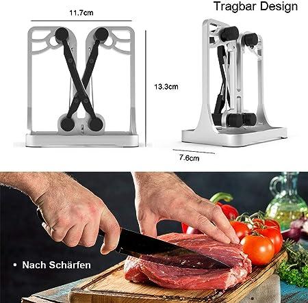 ANYUKE Afilador de Cuchillos Profesional, afilador de Cuchillos de Cocina para Cuchillos y Cuchillos dentados, Herramientas de Cocina seguras