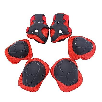 Protecciones para Niños Skate Patinaje Bicicleta Deportivas Patinaje Kit de 6 Piezas Set Proteccion Protectores de Muneca Guardias Rodilleras y ...