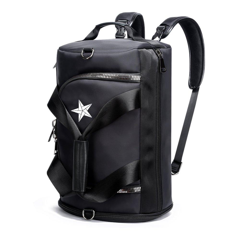 BOPAI 3WAYリュックサック スポーツバッグ メンズ ダッフルバッグ 防水 ボストンバッグ ブラック B07B2H8MM3