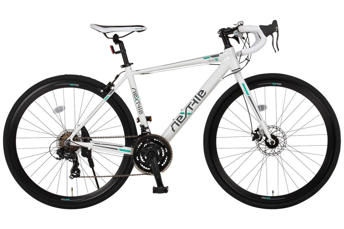 完成車 NEXTYLE (ネクスタイル) ロードバイク シマノ製21段変速 RNX-7021DC ディスクブレーキ (アルミフレーム 男性 女性 ) B071YLJMLK ホワイト ホワイト