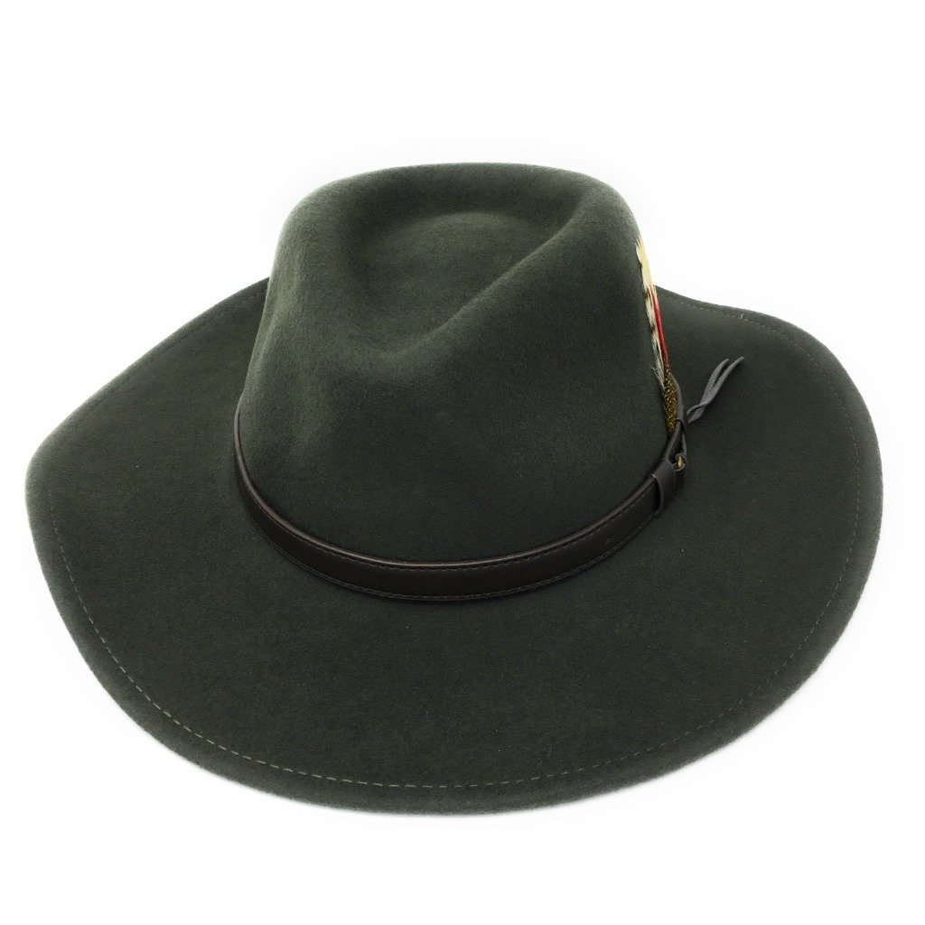 Cotswold Country Hats Crushable Safari Fedora Hat. Wide Brim. Choice of Colours and Sizes. Small, Medium, Large, XL