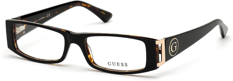 Havana Dark GU-2749 001 Guess Glasses Acetate Plastic Glossy Black