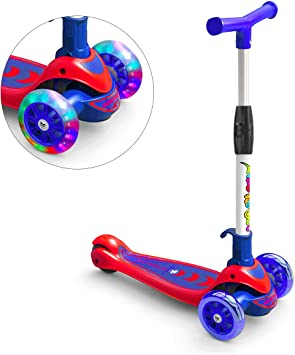 Amazon.com: Greentest - Patinete plegable y ajustable con 3 ...