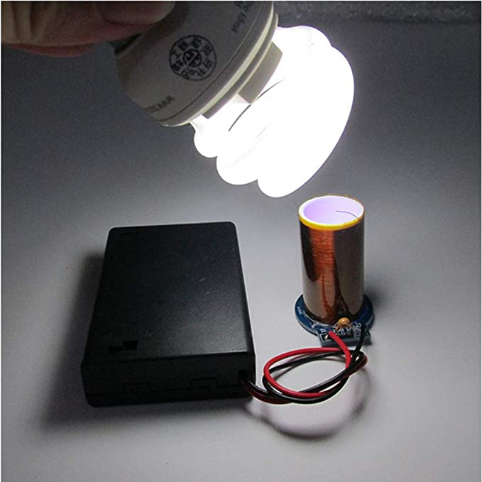 Mini SSTC Tesla Coil DIY Kits Battery Powered Wireless Light from a Distance