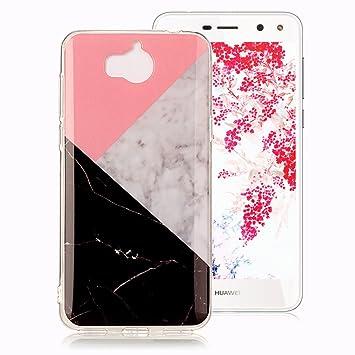 Funda Mármol para Huawei Y6 2017, Huawei Y5 2017 Case, Ronger Carcasa Gel TPU Silicona Marble Case Cover Funda Ultra Fino Flexible con Patrón de ...