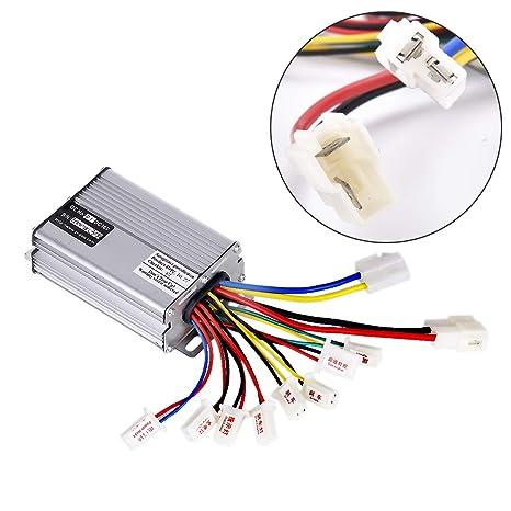 Wingsmoto Controlador 36 V 1000 W Motor eléctrico Cepillado Motor Scooter Blanco Conector de batería Terminal