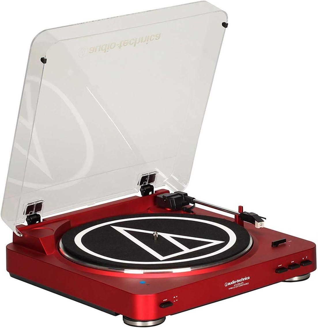 Audio-Technica - Tocadiscos inalámbricos Bluetooth (rojo): Amazon ...
