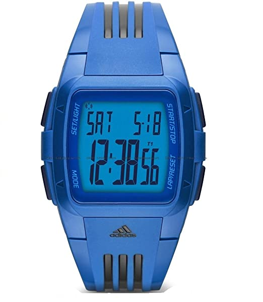 Esfera Rendimiento De Reloj Digital Adidas Duramo Azul Silicona JT1clKF3